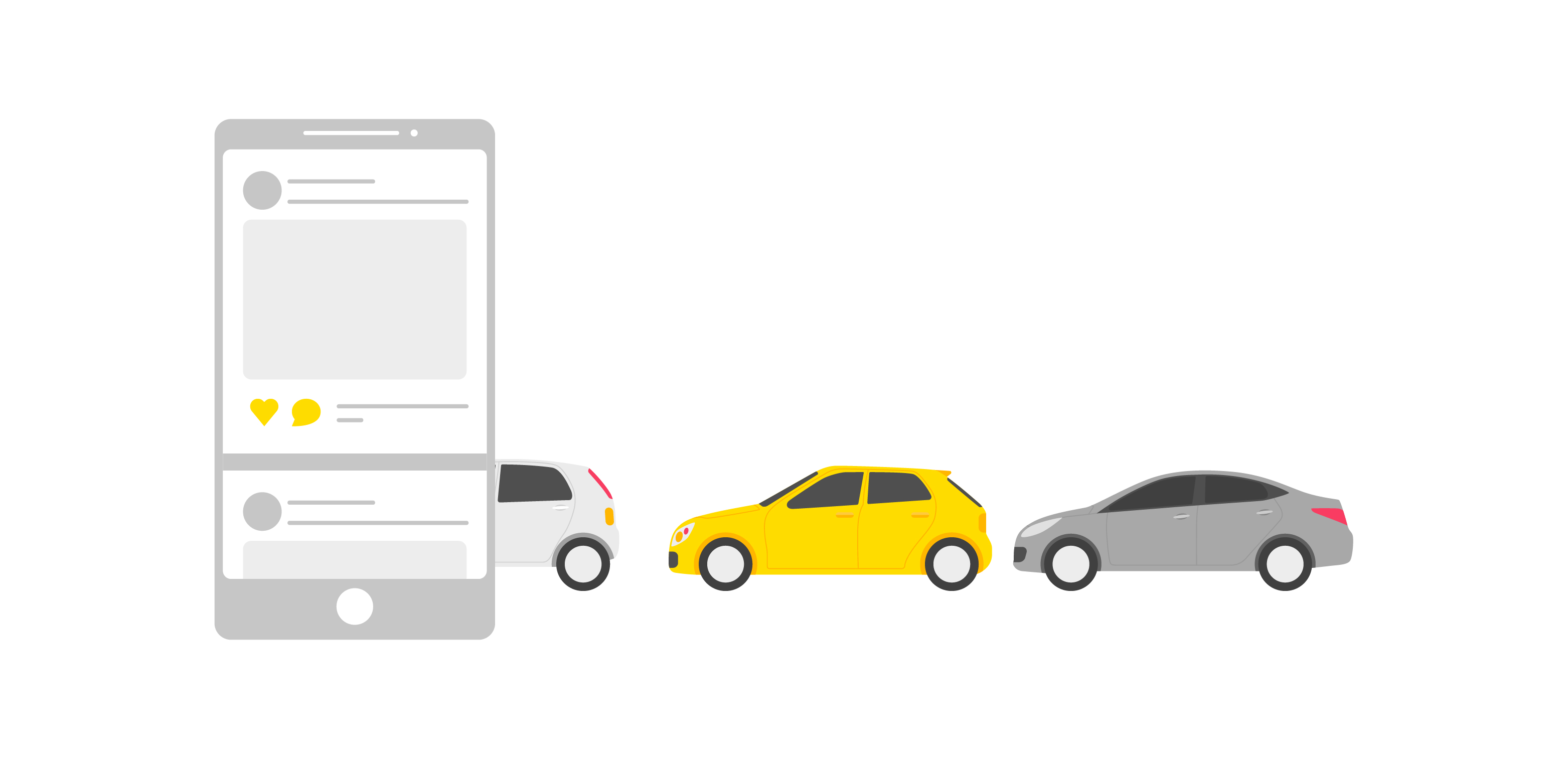 image of phone and cars to infer driving traffic to website